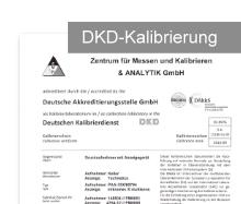 DKD DAkkS Kalibrierschein