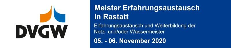 DVGW Meister-Erfahrungsaustausch Rastatt 2020