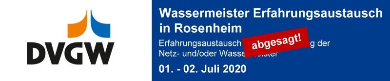 DVGW Meister-Erfahrungsaustausch Rosenheim 2020